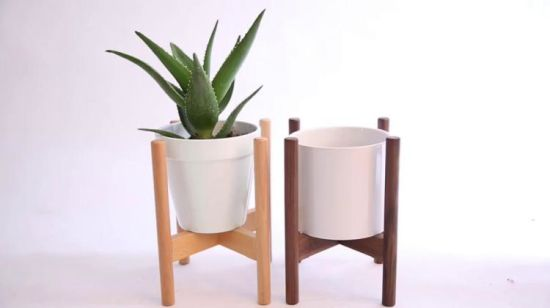 Mid Century Movable Pot Plant Stand