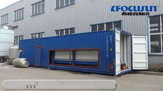 1 Tonne Containerized direkte Systems-Block-Eis-Maschine 10kgs pro Block