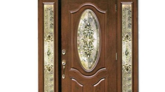 [Hot Item] Small Oval Tempered Glass Primed White Steel Prehung Exterior  Entry Door with Wooden Frame
