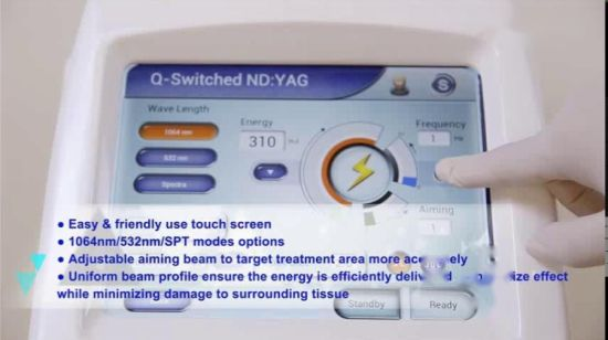 El melasma láser Dispositivo de eliminación Eo Q-Switch Nd YAG