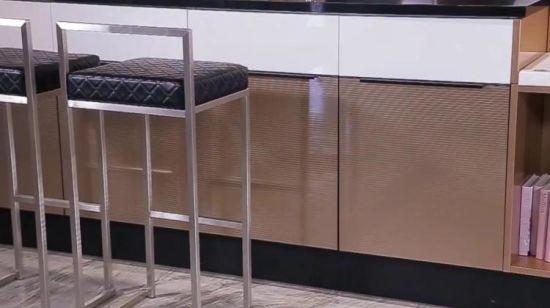 De Hete Keukenkast Van De Folie Van Het Metaal Van Oppein Van De Verkoop Gouden Op14 067