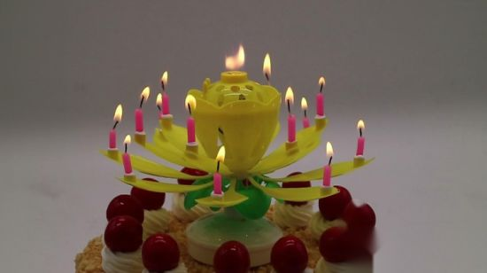 Chinese Lotus Birthday Candle Image Antique And Candle