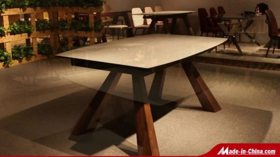 Chine Table A Manger Moderne En Bois Massif Meubles De Salle A