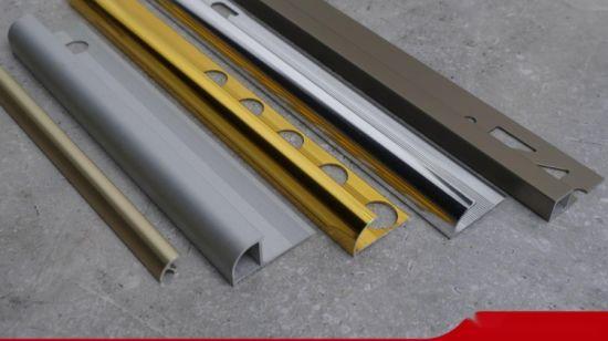 China Niu Yuandurable Open Half Round Metal Tile Trim