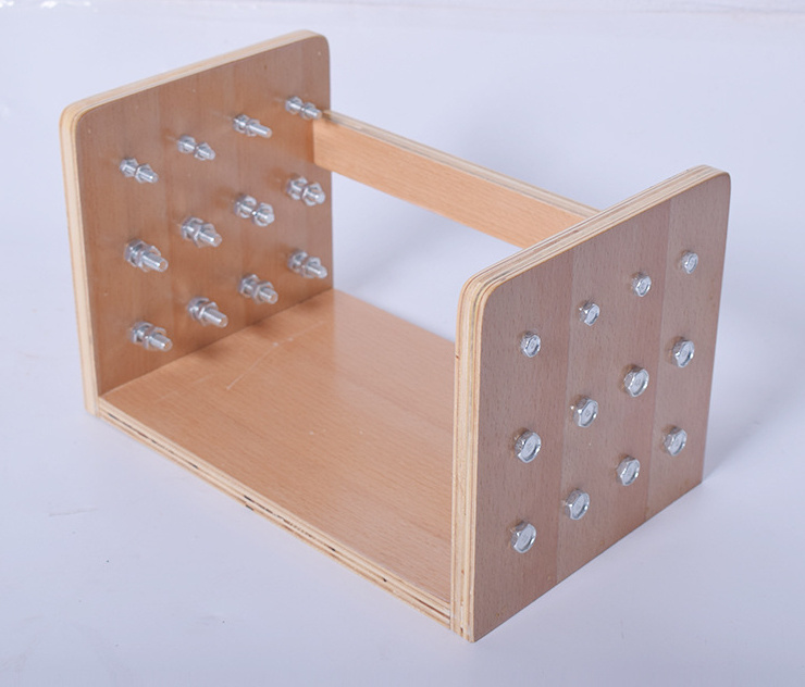 Hands Fingers Training Ot Nuts Wood Board Occupational Therapy Equipment