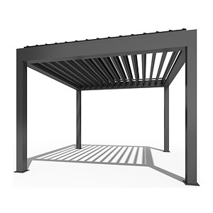 China Outdoor Motorized Waterproof Gazebo Garden Louvre Roof Aluminum Pergola