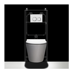 Popular Sale Sanitary Ware Wc Glazed Wall Hung Toilet (BC-1107D)