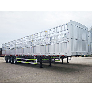16m Length Air Suspension Lift Axle 4 Axles 60 Ton Heavy Duty Fence/Stake Utility Cargo Truck Semi Trailer for Trailer and Truck Head
