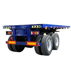 20FT 28 FT 40 FT 45FT 2 Axle 3 Axles Flat Bed Platform Flatbed Container Semi Trailer with BPW Fuwa Axles/Jost Landing Gear/Wabco Brake Valves