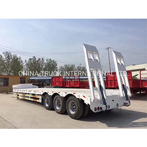 3 Axle 60ton 13m Low Bed Semi Trailer/Lowboy Semi Truck Trailer