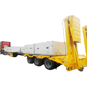 3/4/5 Axles 50 80tons Steering Extendable Drop 4 Axle 16m Lowbed Low Bed Semi Truck Trailer