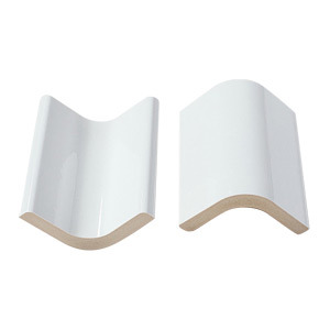 White Ceramic Tile Bull Nose for Bathroom