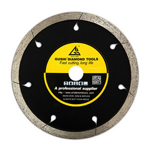 Diamond Continuous Rim Saw Blade for Cutting Marble, Tile, Ceramic, Porcelain