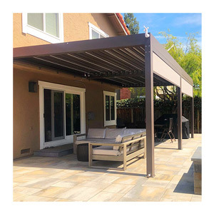 Customized Balcony Patio Aluminium Waterproof Pergola Canopies Garden Gazebo