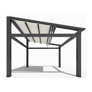 Hot Sale Motorized Waterproof Patio Retractable Awning Roof with Side Screen