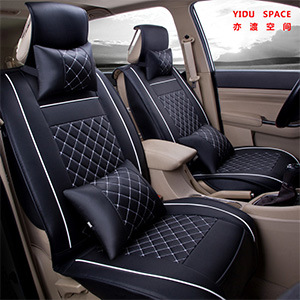 Car Accessories Car Decoration Seat Cushion Universal Cartoon Pure Leather Auto Car Seat Cover