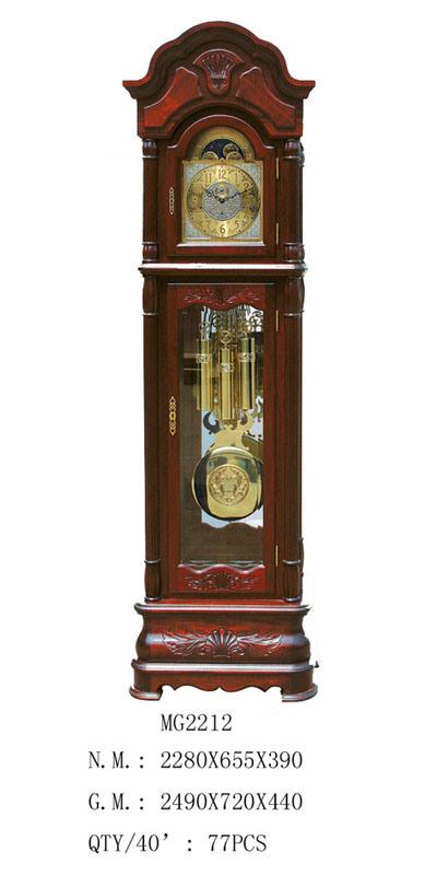 China Solid Wood Grandfather Clock Mg2212 China