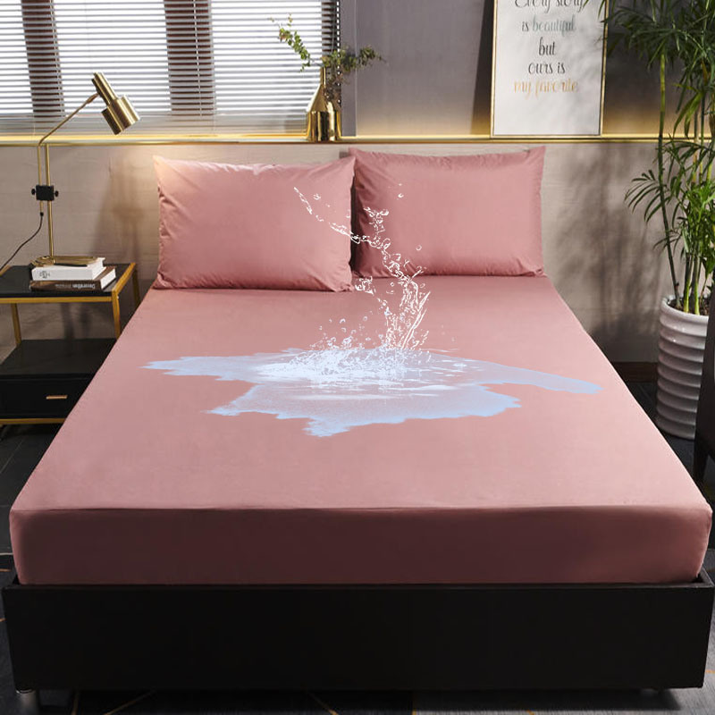 Full Double Size PVC Waterproof Bed Sheet Mattress Cover Bedding Sheet Bedroom