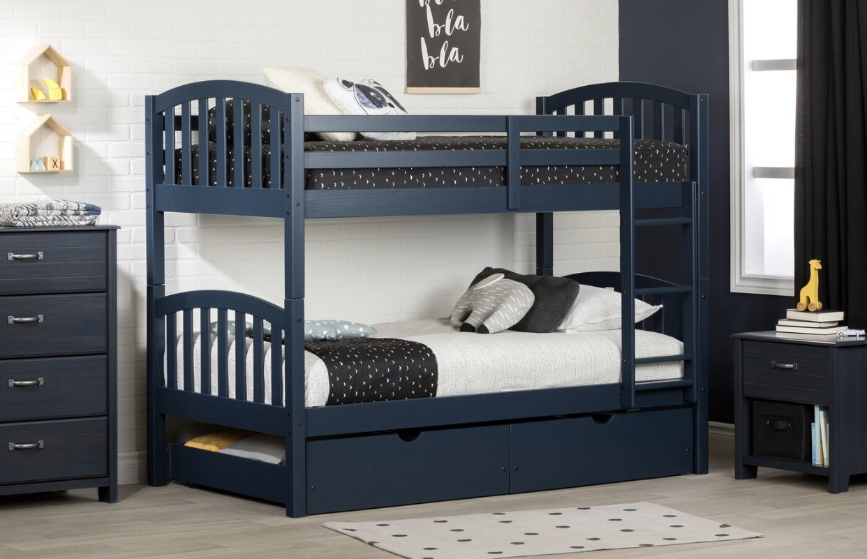 Picture of: China Hot Selling Kids Solid Pine Wood Bunk Bed With Storage Drawers Photos Pictures Made In China Com