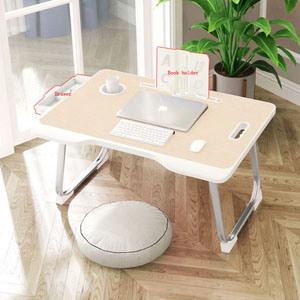 Er Wood Computer Desk Laptop Table, Portable Folding Desk Pc Laptop Bed Table