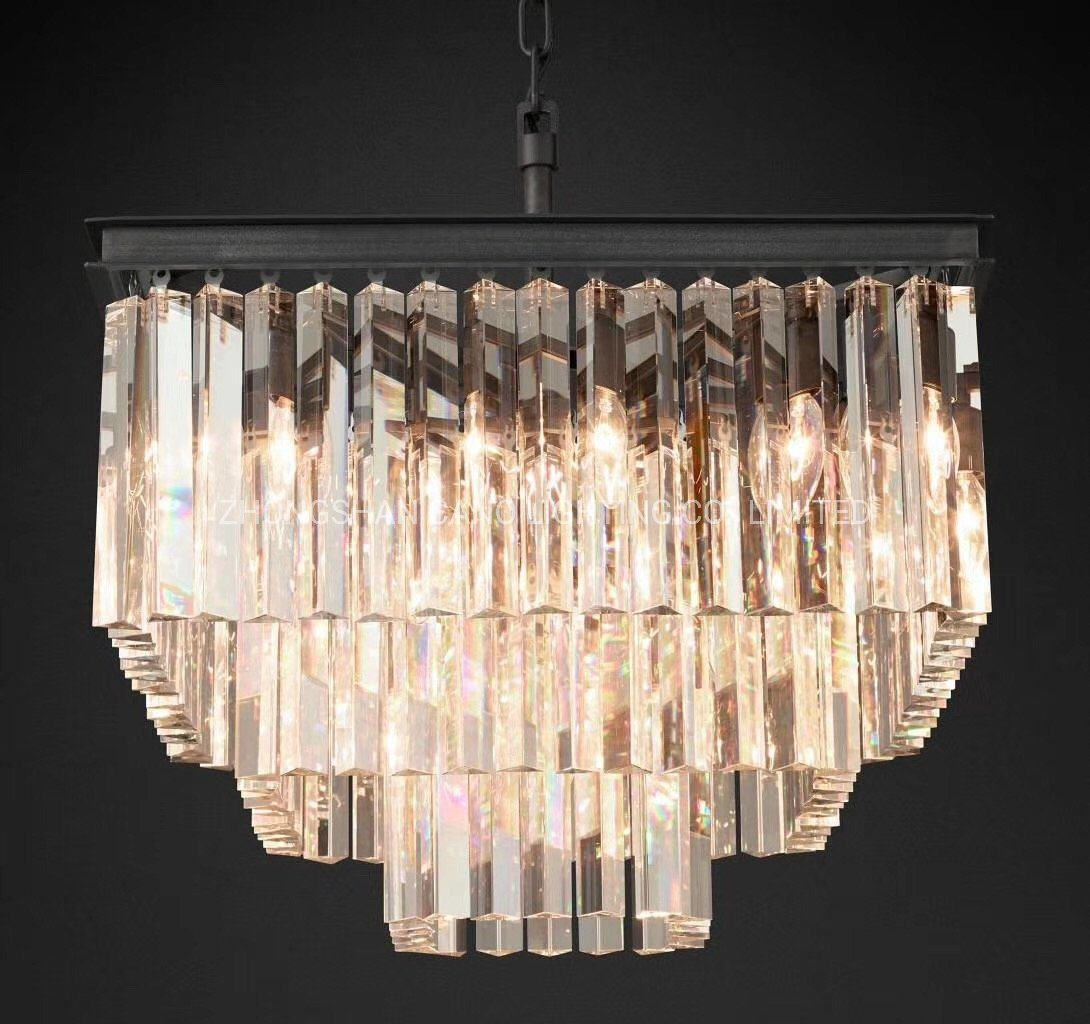 Picture of: China Zhongshan Factory High Quality Restoration Hardware K9 Crystal Big Square Chandelier For Living Room China Restoration Hardware Chandelier Big Round Chandelier For Living Room