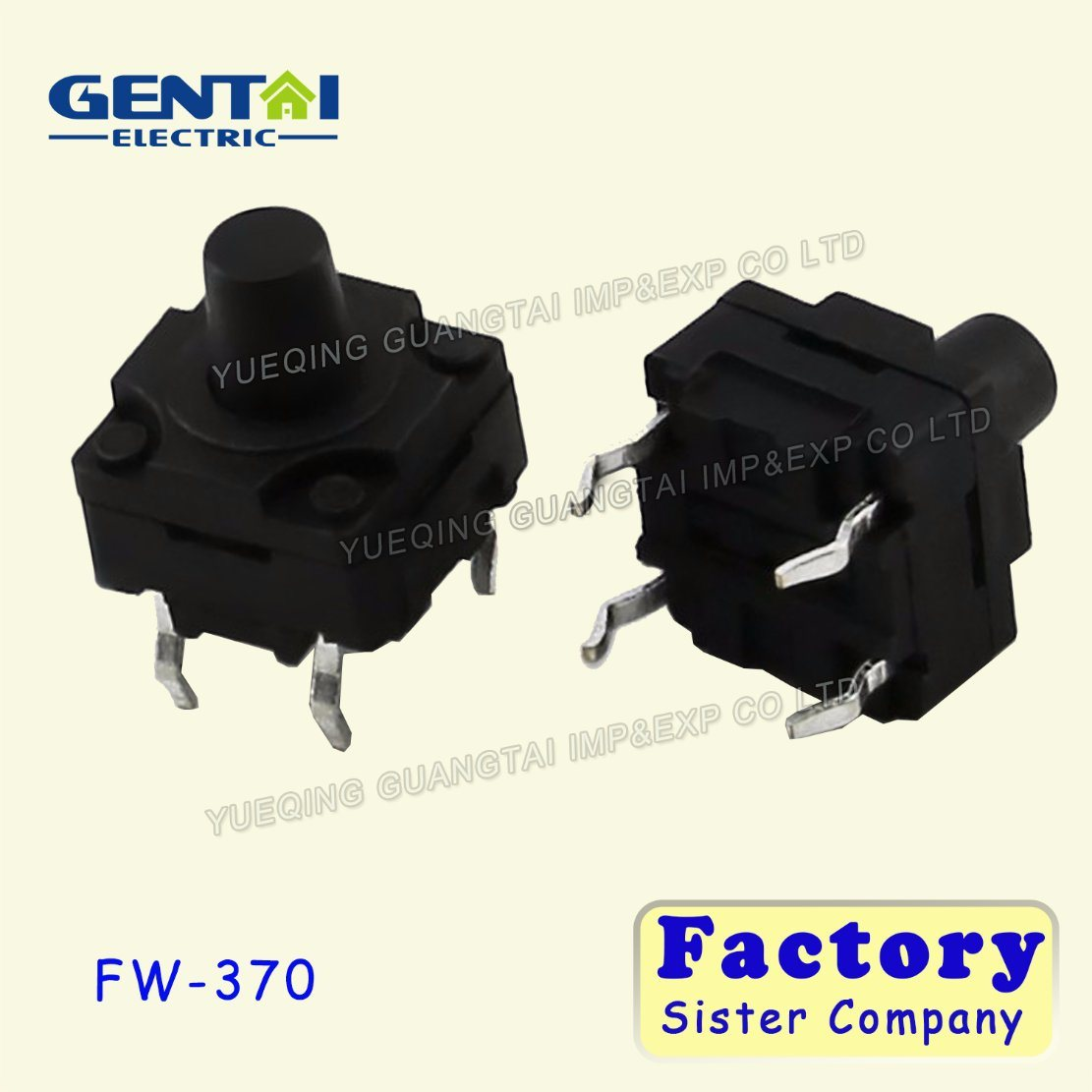 China Smd Tactile Switch Push Button 7575mm 4 Pin Tact 5mm With Led