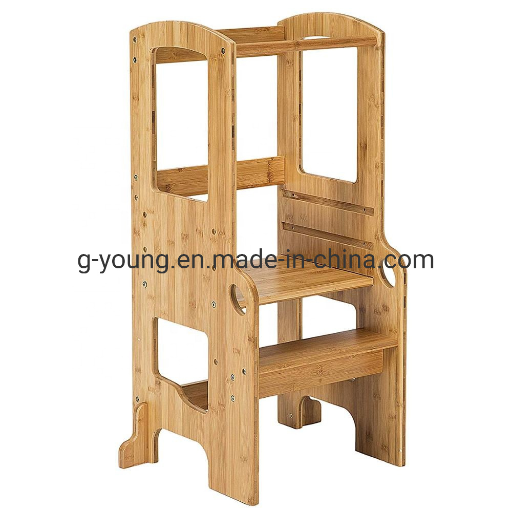 Bamboo Wooden Kids Kitchen Step Stool
