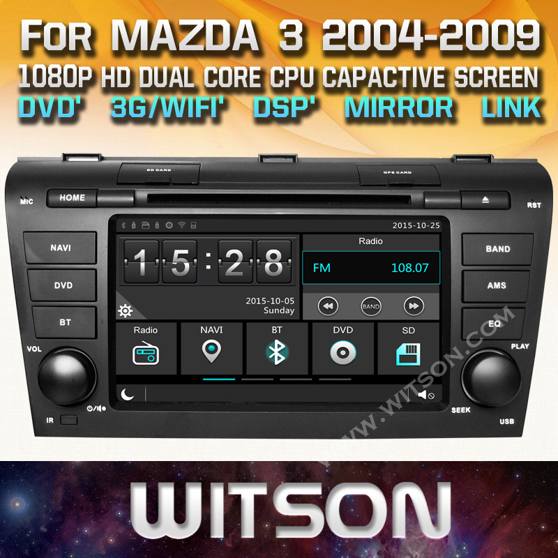 China Witson Windows Touch Screen Car Dvd For Mazda 3 2004 2009 Player Gps Navigation