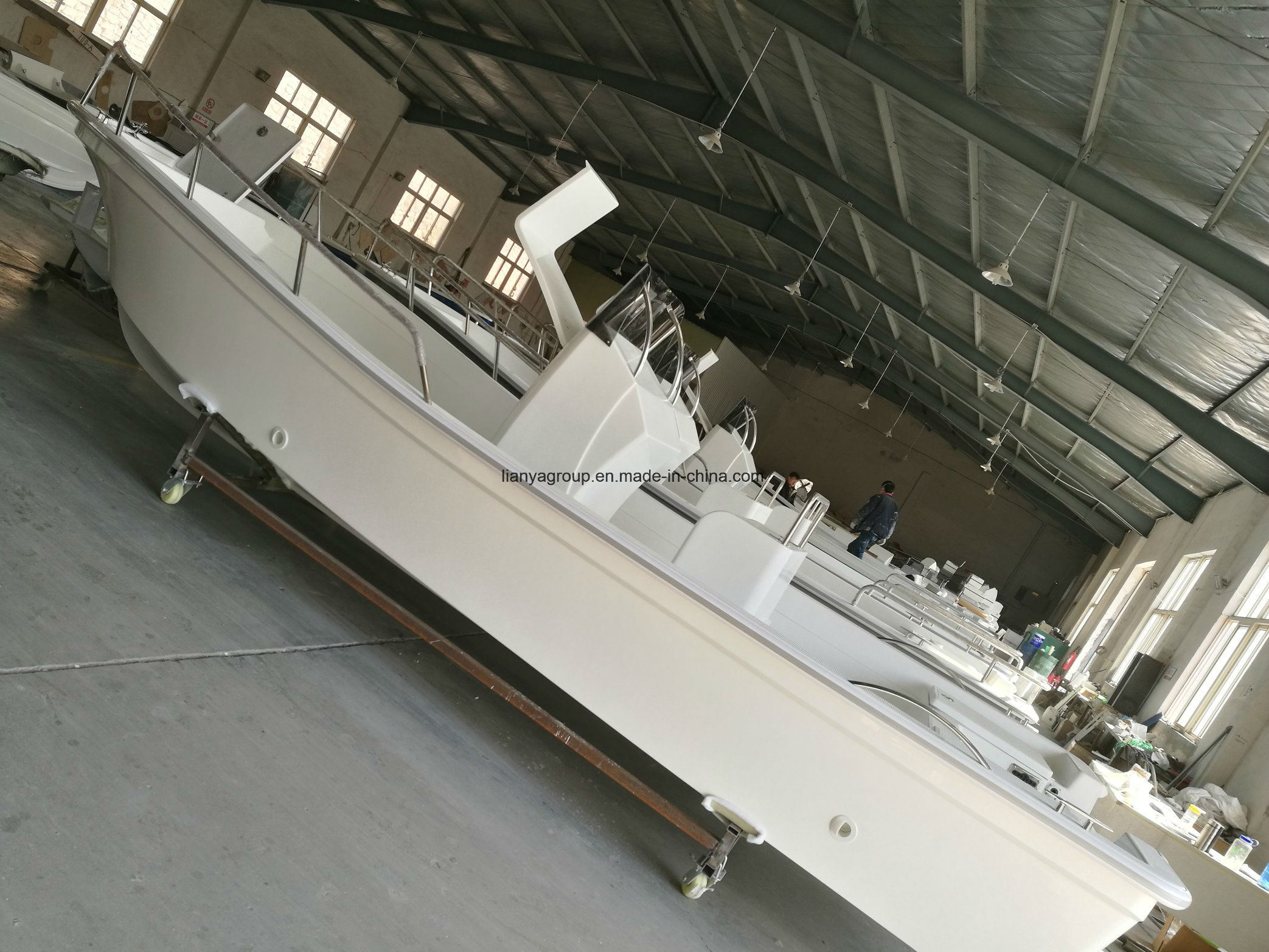 China Liya Inshore Power Fishing Boats 5 8m Panga Boat Factory