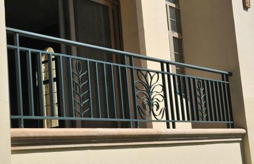 China Construction Material Commericial Building Used Wrought Iron Metal Steel Stair Railing For Fence Handrail