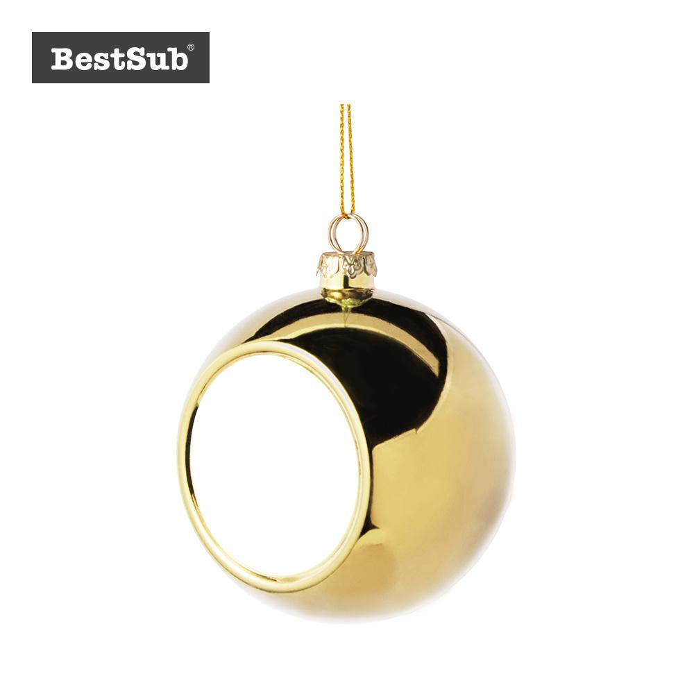 China Sublimation 8cm Plastic Christmas Ball Ornament Wo Insert