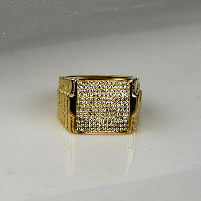 China Simple Hip Hop 1 Gram Gold Ring Designs for Men Mjhpr054