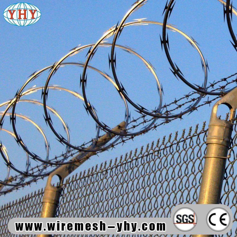 China Hot Dipped Galvanized Razor Barbed Wire - China Razor Wire ...