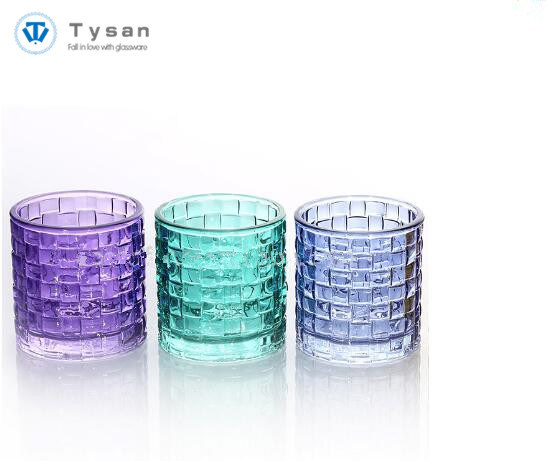 Decorative Glass Candle Holders.Hot Item Colored Decorative Glass Tealight Candle Holder