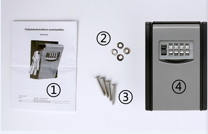 Key Safe Box, Combination Lock, 4-Digits Key Holder Box, Al-280 pictures & photos