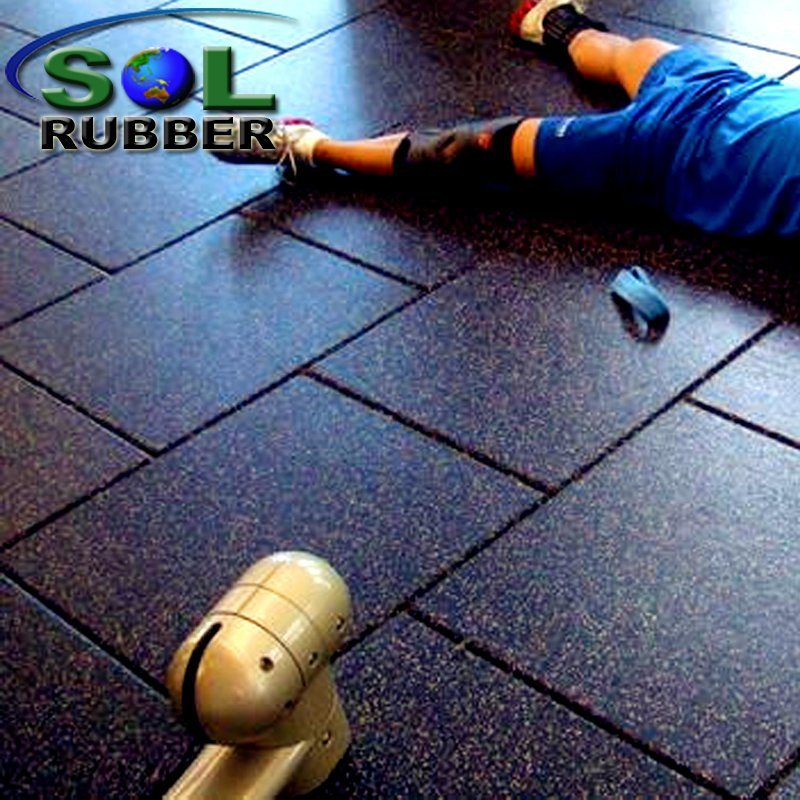 Reclaimed Rubber High Quality Commercial Gym Flooring