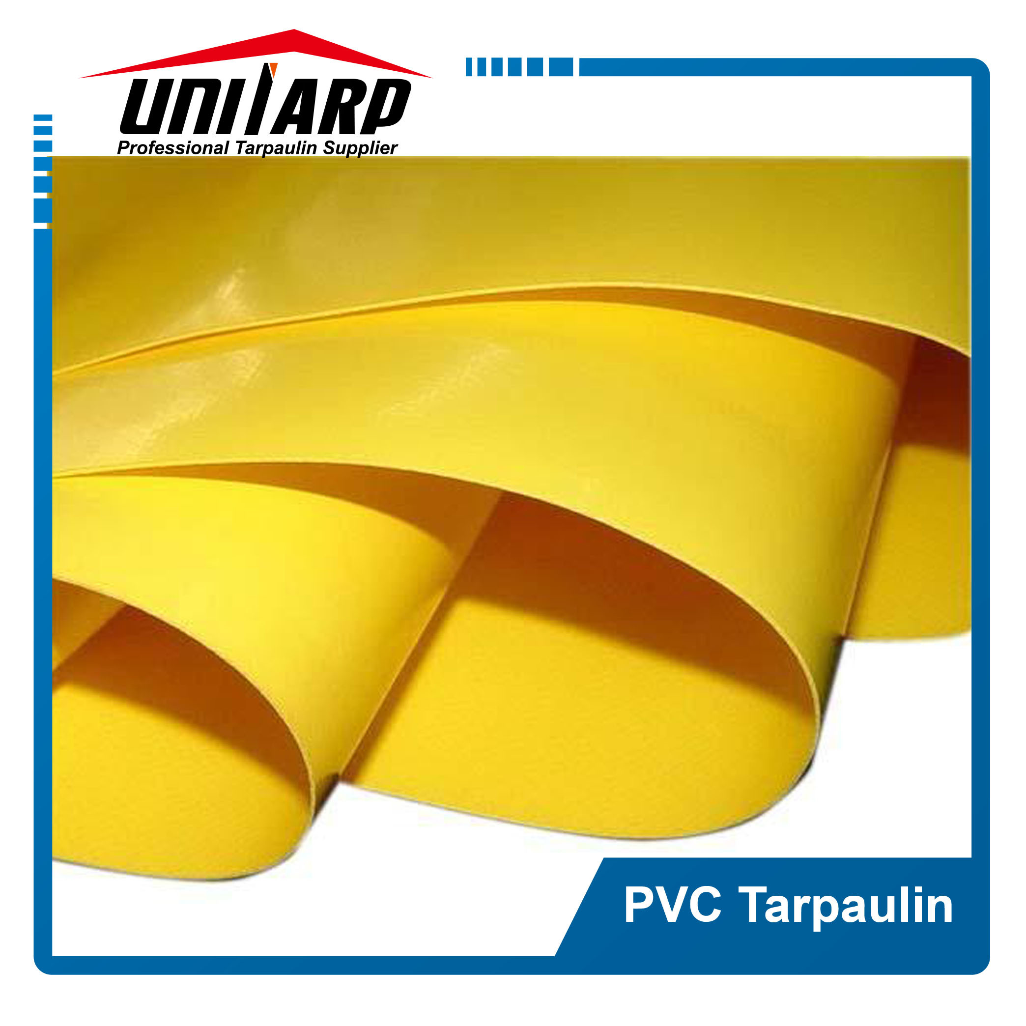 10oz Yellow Poly Tarp PVC Coated Canvas Tarpaulin Fabric pictures & photos