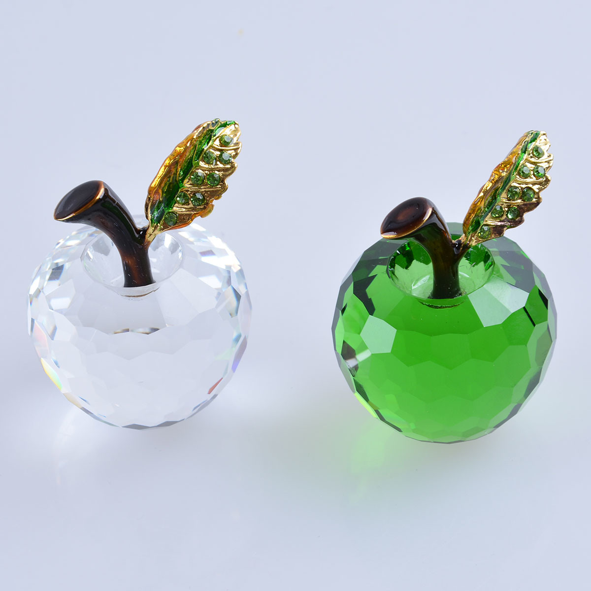 40mm Crystal Apple of Paperweight for Home Decoration Wedding Favor Gift