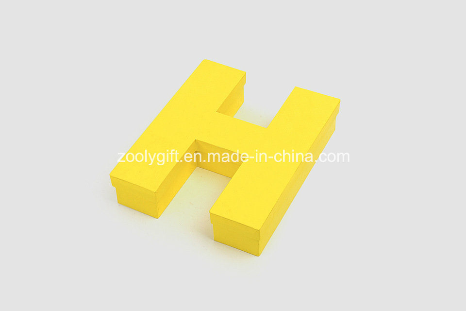 Personalized Cardboard Display Letter Grid Boxes Display Shaped Jewelry Boxes