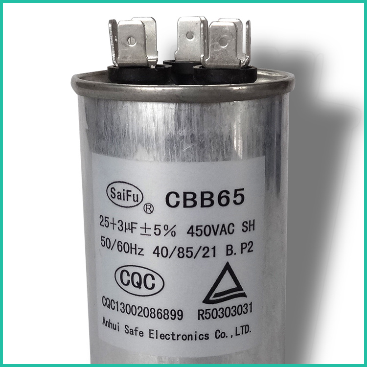 China Dual Run Capacitor 45/5 Mfd 440 Volt Round - Air Conditioning