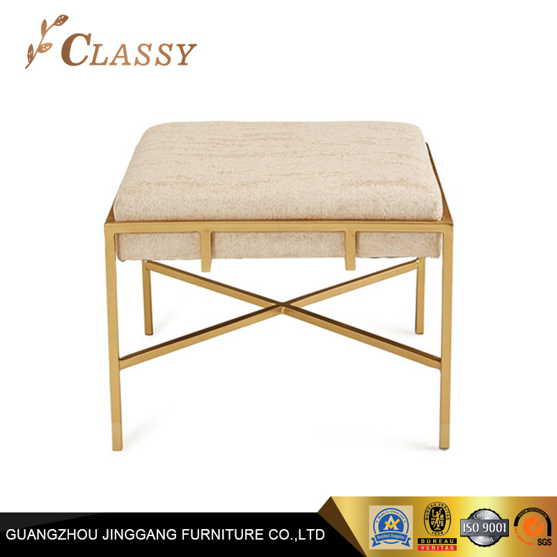 Pleasant Hot Item Square Fabric Seating Stainless Steel Base Living Room Stool Ibusinesslaw Wood Chair Design Ideas Ibusinesslaworg