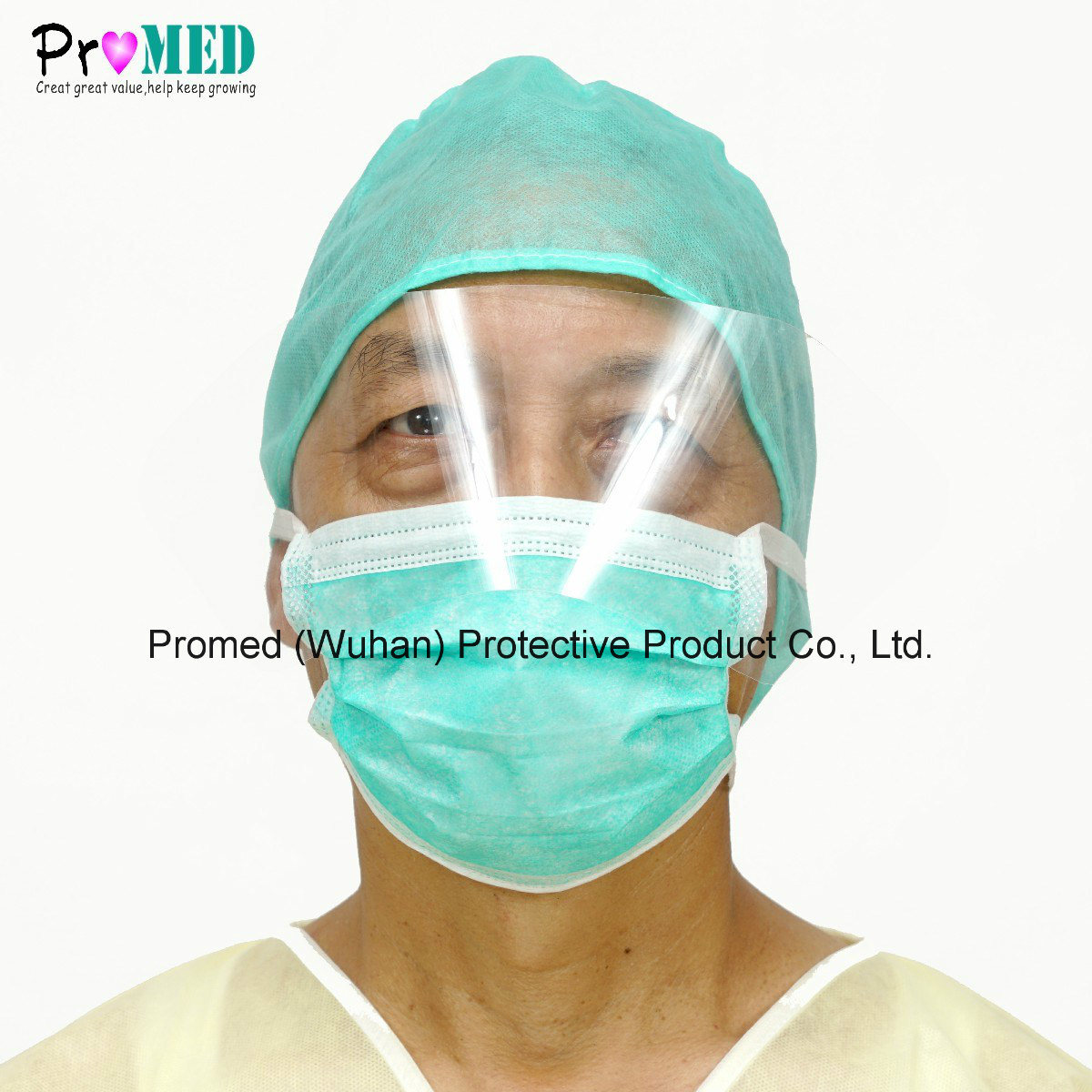China Eyeshield Surgical Disposable Mask Face With Nonwoven