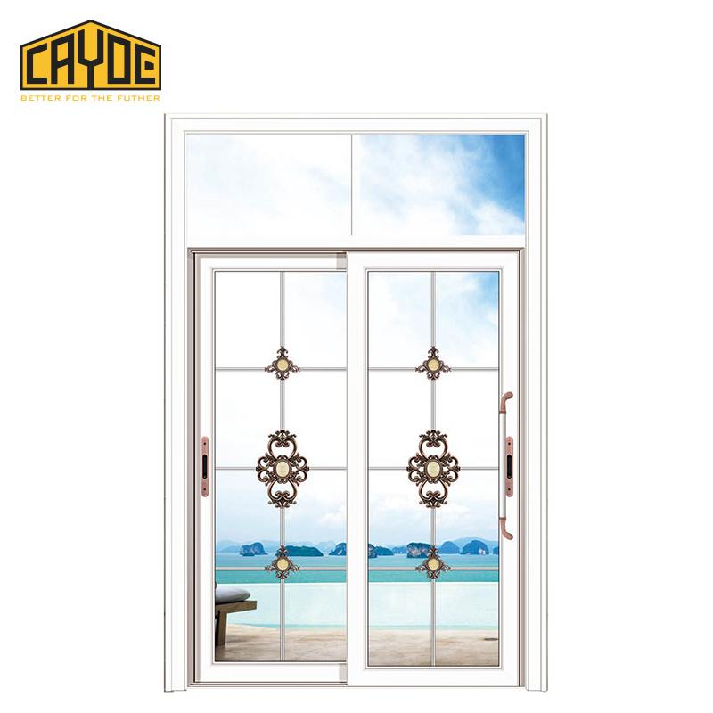 China Foshan Door Wooden Tempered Glass Sliding Door Price Photos