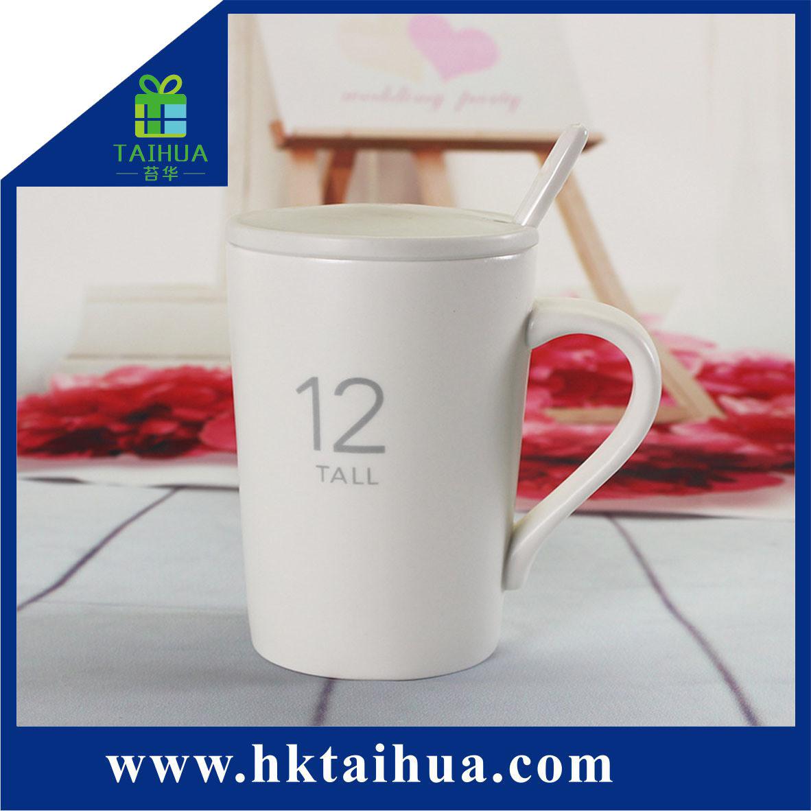 Hot Item Whole Custom Logo Plain White Ceramic Coffee Mug