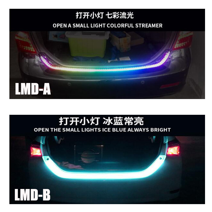 China 1 2m Side Light Red Ice Blue LED Tail Light Strip