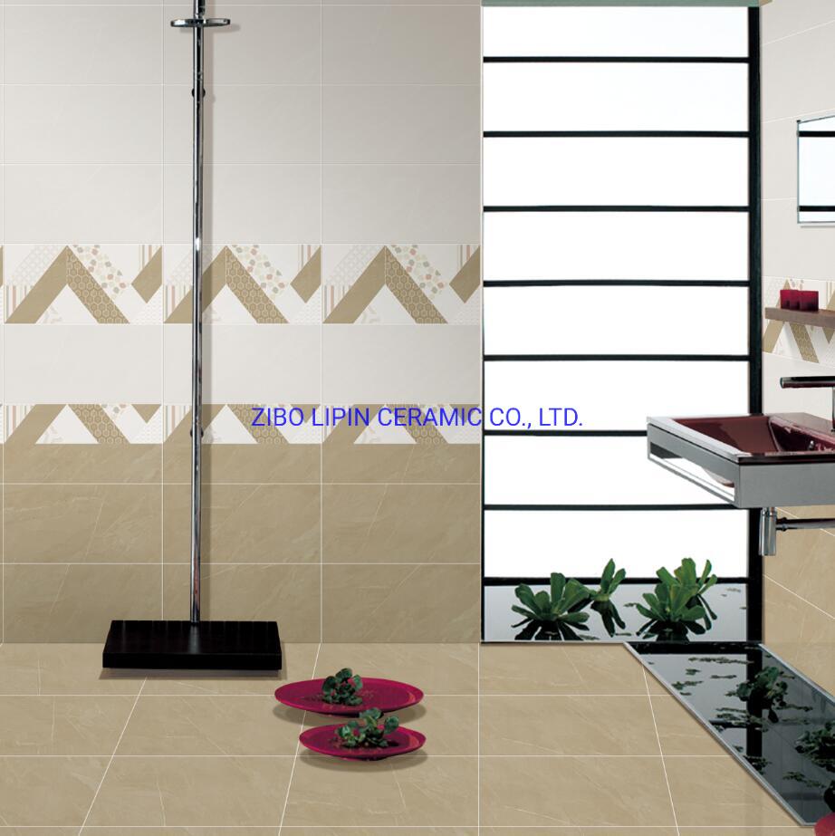 China Home Decor Beige Glossy Interior Bathroom Wall Mirror Tiles China Floor Tile Ceramic Tile