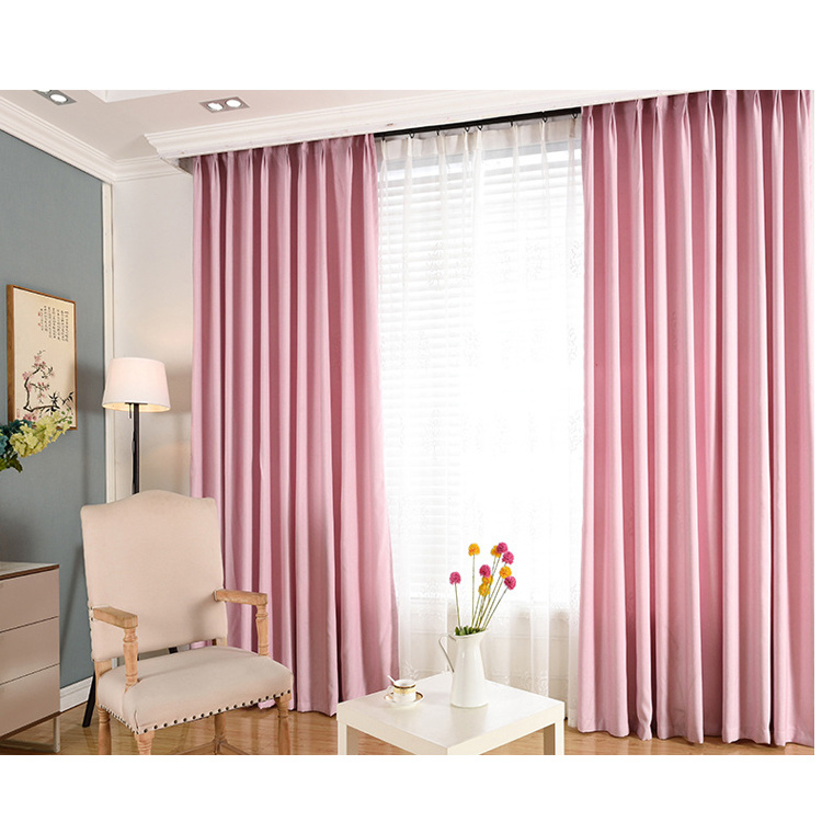 [Hot Item] Curtains Wholesale Curtain Fabric Custom Hotel Living Room  Bedroom Curtain Finished