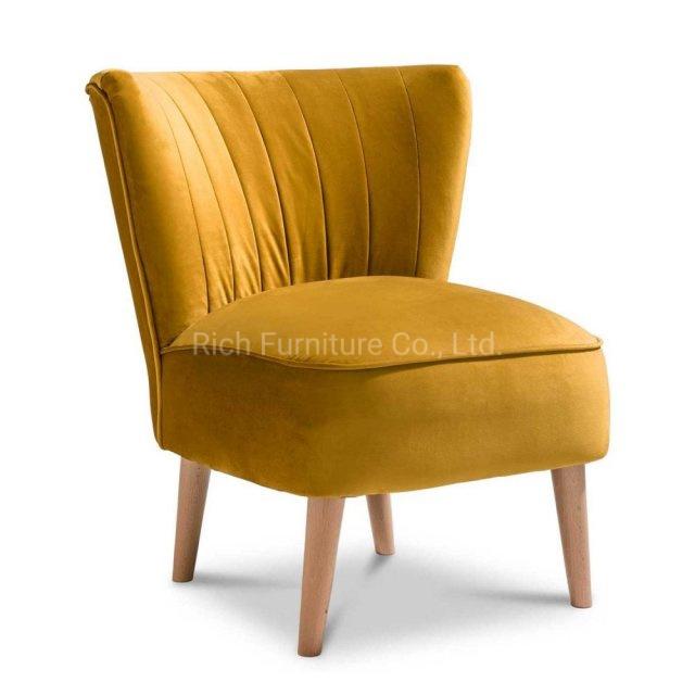 Awesome China Mustard Yellow Velvet Accent Chair Plush Fabric Light Machost Co Dining Chair Design Ideas Machostcouk
