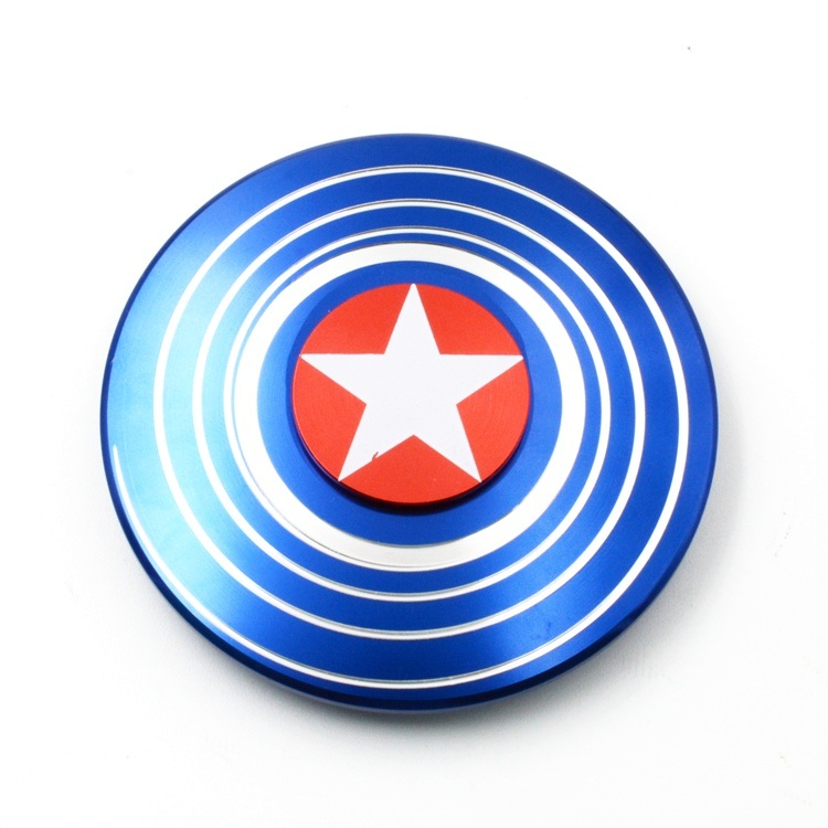 Round Captain America Finger Gyroscope Spinner Fidget Hand Spinner pictures & photos