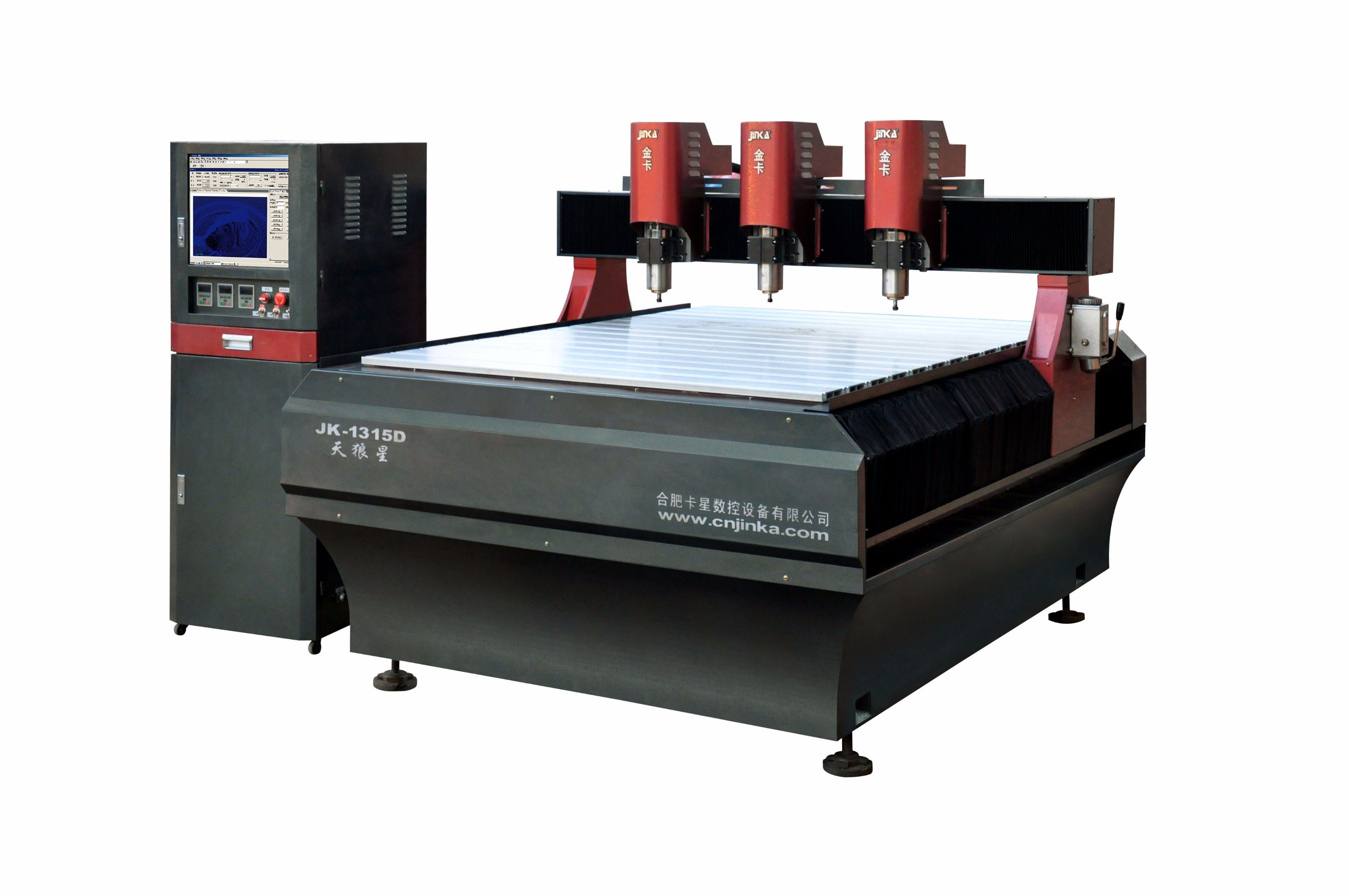 Competitive Jk-1315D Rolling Ball Screw Advertising Engraver CNC Router